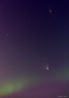 Comet Panstarrs, Andromeda Galaxy and Aurora